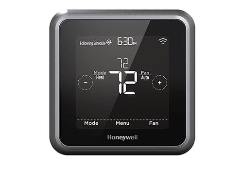 Honeywell Lyric T5 front view power on